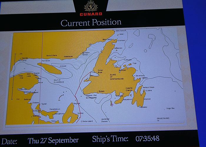 Information de bord (très détaillée) sur écran tv de la cabine
