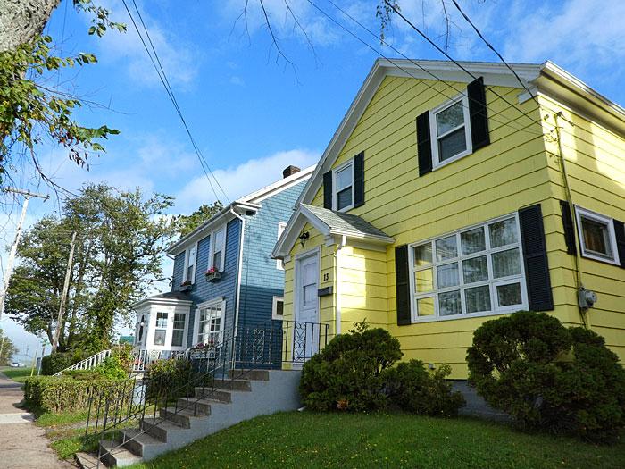 Maisons colorées du 19è siècle