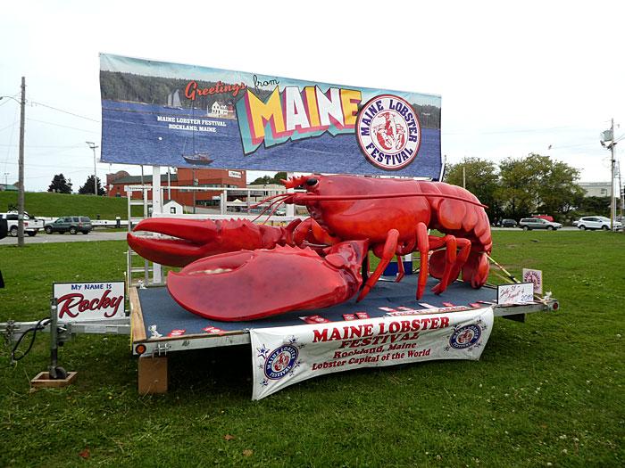 Publicité pour la fête du homard en août 2019