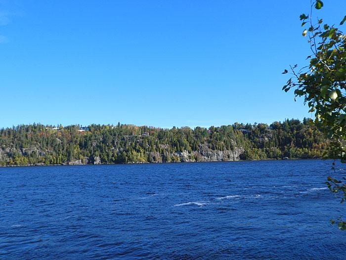 Vue sur la rivière Saguenay