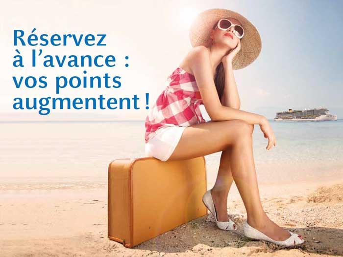 Nouveaux tarifs Costa Croisières : réservez à l'avance et vos points augmentent !