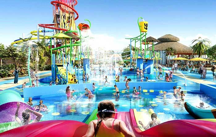 Un vrai parc d'attractions aquatique…