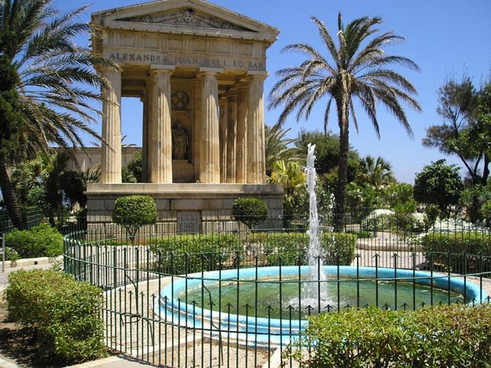 Vue sur les jardins supérieurs du Baracca