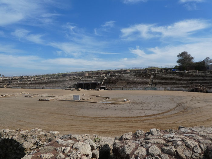 Vestiges de l'hippodrome de Césarée