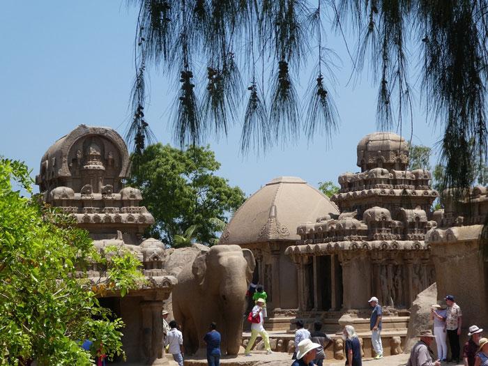 Le temple des Five Rathas (5 chariots) à Mahabalipuram