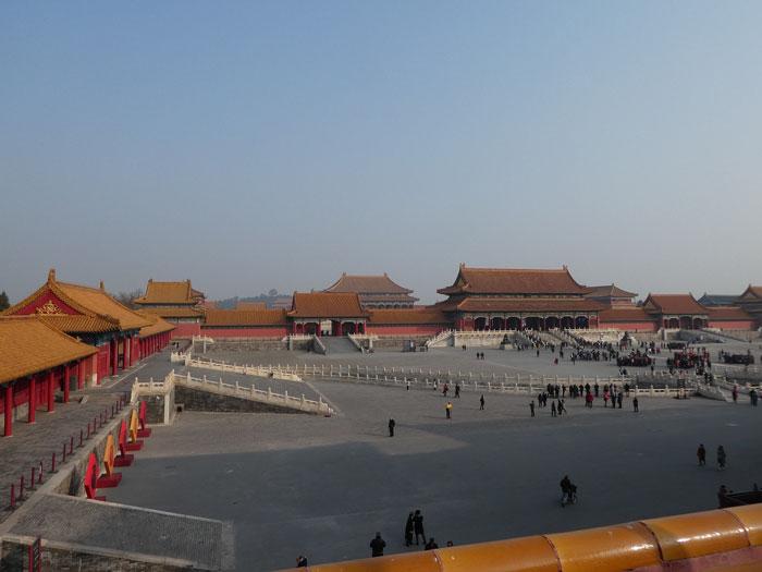 Vue panoramique de l'entrée à la Cité Interdite