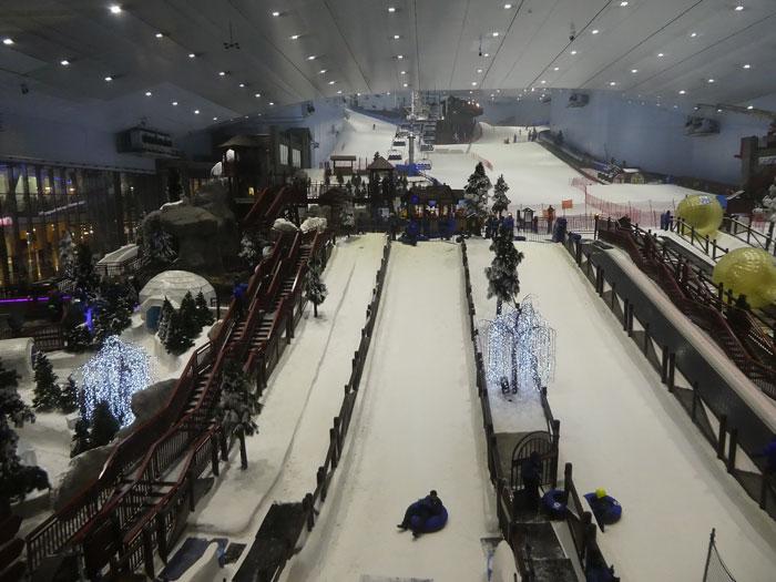 Piste de ski a l'Emirates Mall