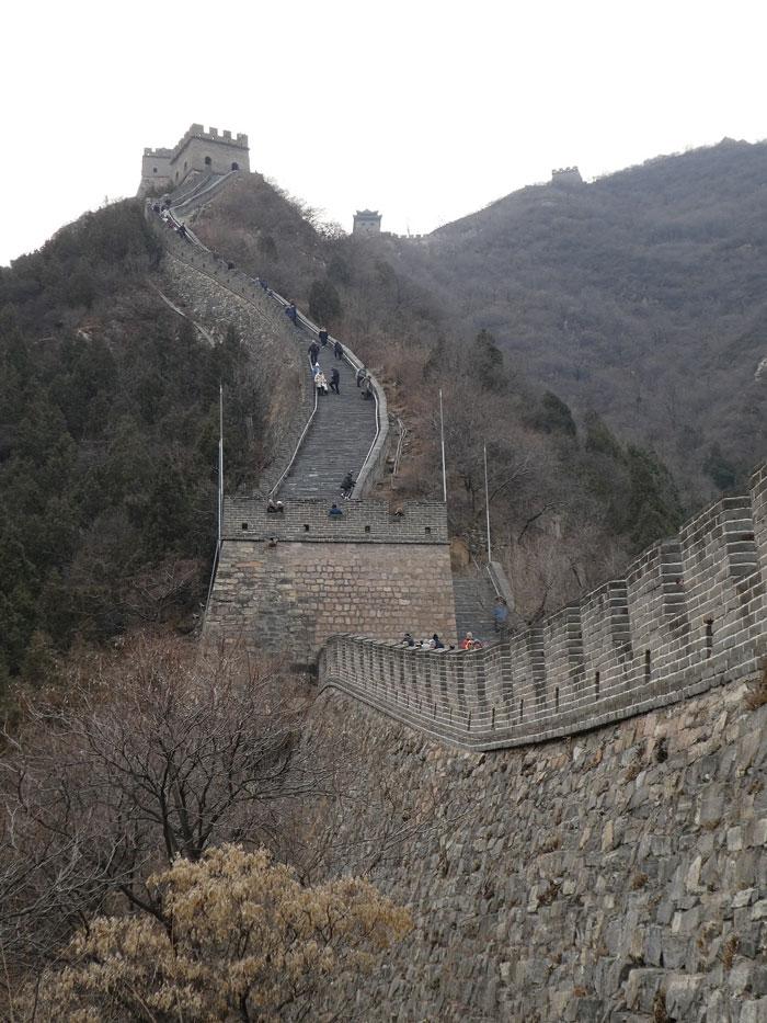 Sur la Grande Muraille à Juyongguan