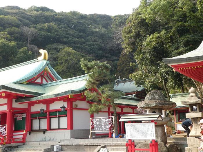 Le temple Shintoïste de Shimonoseki