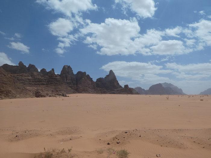 Vue partielle du Wadi Rum