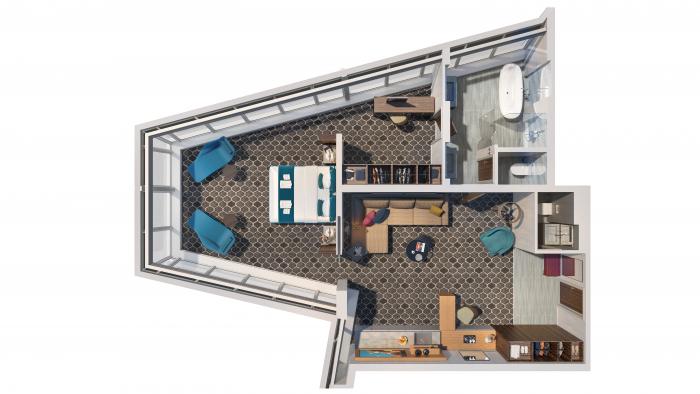 Plan construction de la Ultimate Panoramic Suite